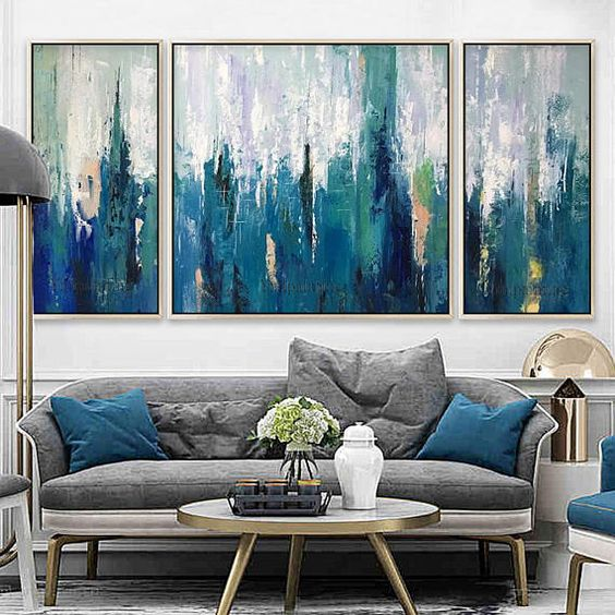 blue living room ideas 15