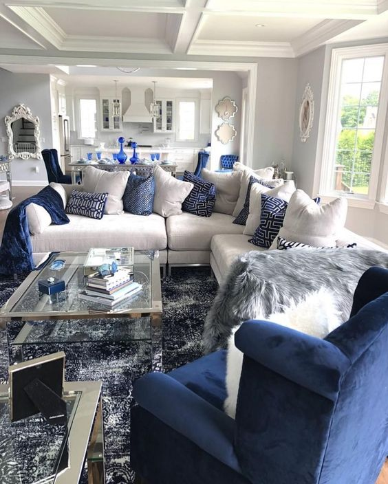 blue living room ideas 23