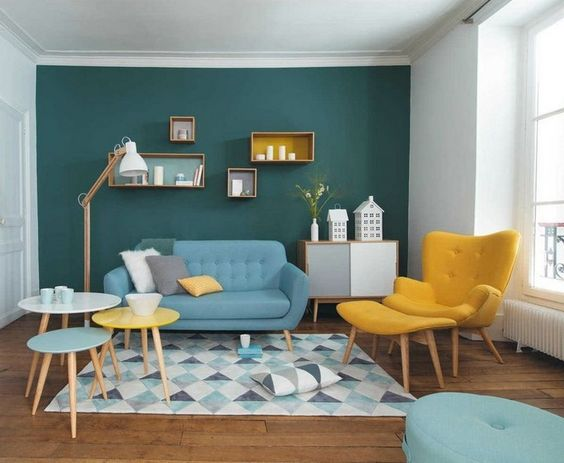 blue living room ideas 25