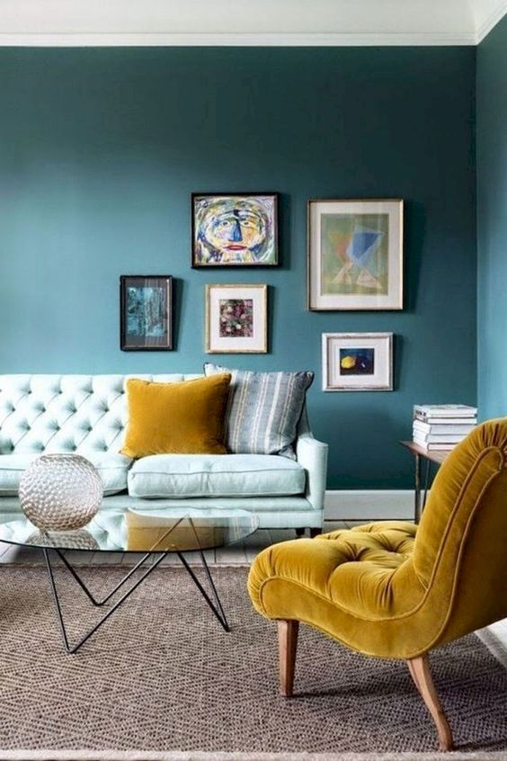 Blue Living Room Ideas: Catchy Warm Decor
