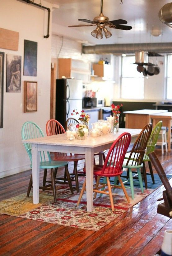 eclectic dining room 13