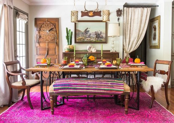 eclectic dining room 25