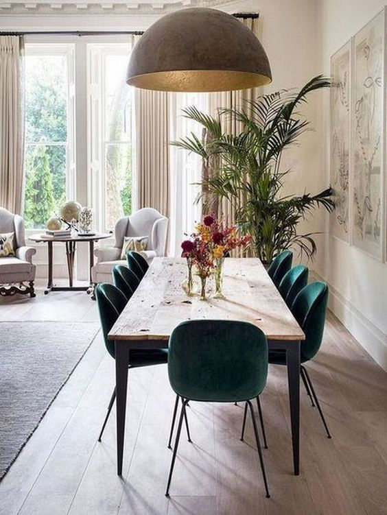 eclectic dining room 8
