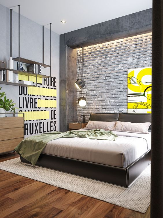 Industrial Bedroom Ideas: Catchy Bright Decor