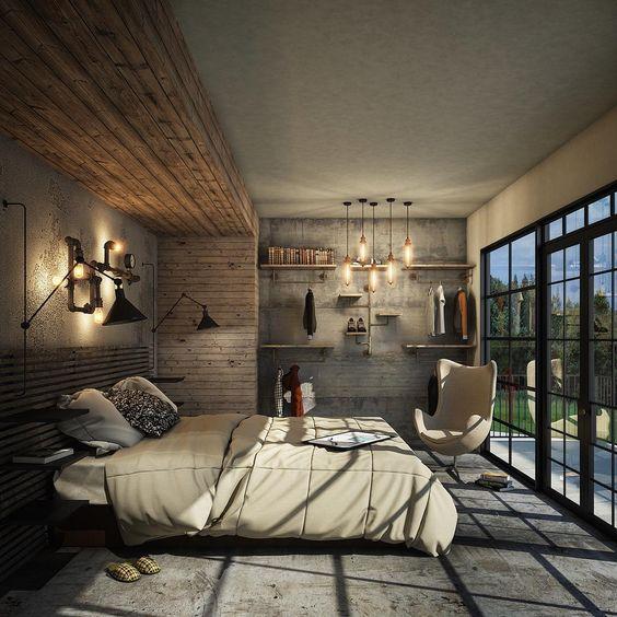 industrial bedroom ideas 12