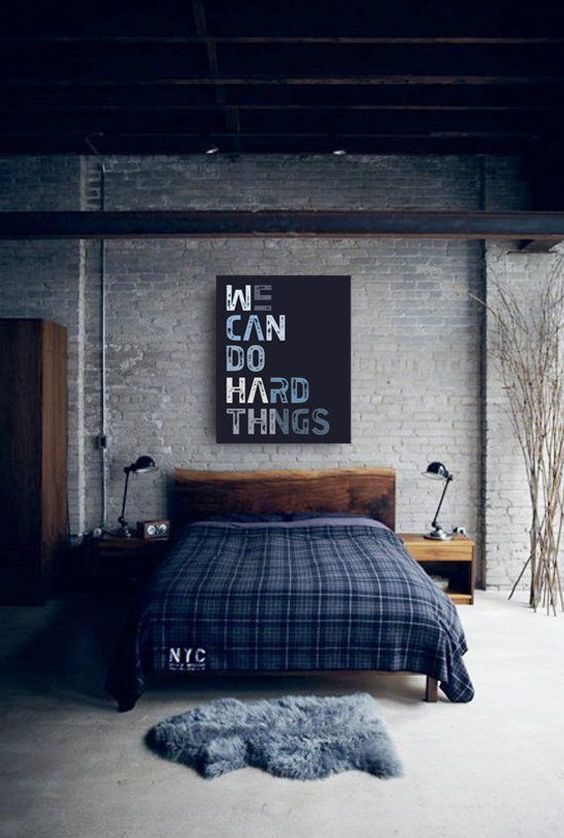 Industrial Bedroom Ideas: Neutral Rustic Decor
