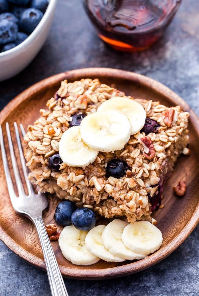 Blueberry Banana Bread Baked Oatmeal  Recipe Runner
