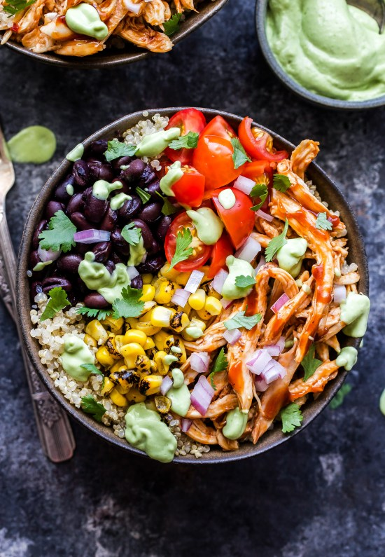 Image result for BBQ Chicken Quinoa Bowl
