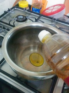 Heating mustard oil