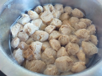 Image result for boiling soya chunks pics