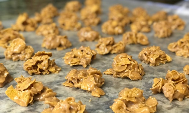 Peanut Butter Cornflake Treats (or Special K Cookies)