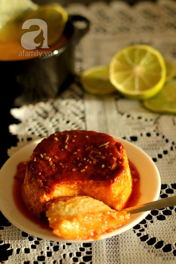 Mềm mịn thơm phức bánh flan chanh dừa 18