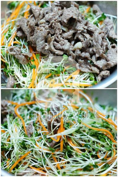 Mát giòn ngon miệng với món salad rau mầm 14