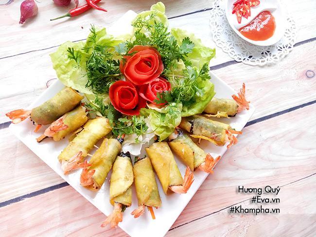 Tôm cuộn khoai lang chiên ngòn thơm nóng bỏng lưỡi - 8