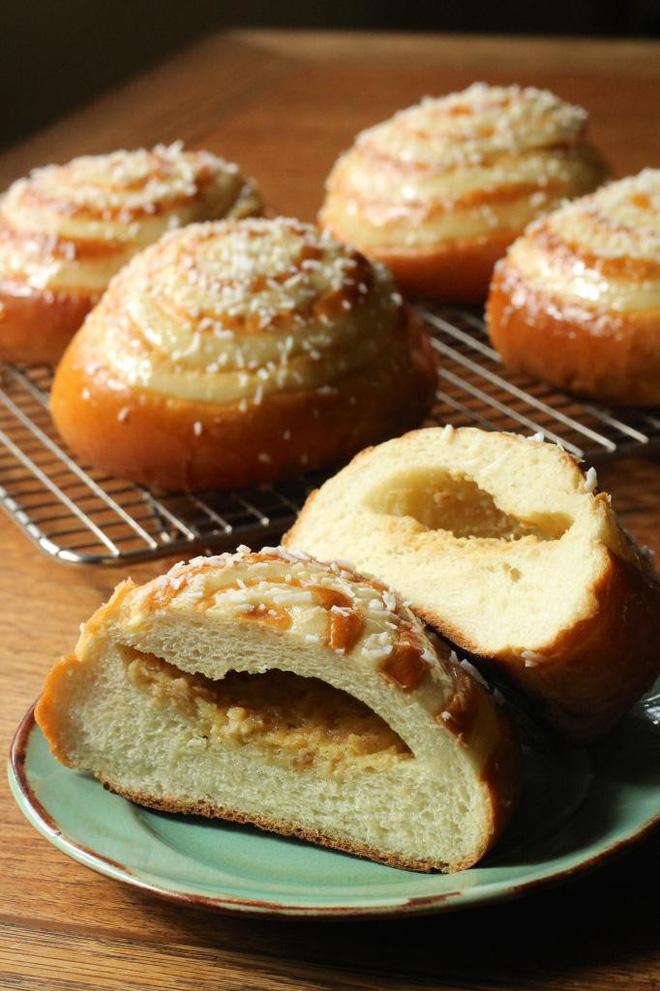 Công thức cực chi tiết làm bánh mì ngọt nhân dừa vừa ngon vừa dễ - Ảnh 12.