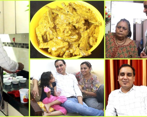 Afghani Mutton Recipe   My 10th Vlog - Cooking Mutton Curry for family   Raj Papa Da Dhaba