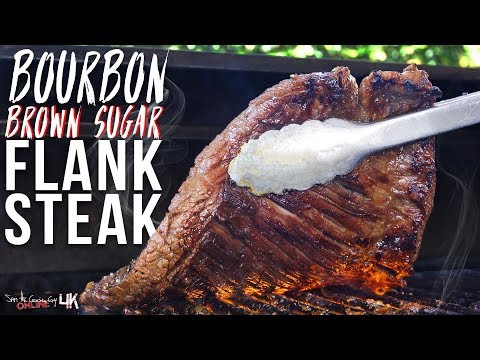 Epic Bourbon Flank Steak Recipe | SAM THE COOKING GUY 4K