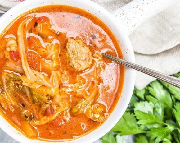 Keto Diet: Instant Pot Cabbage Sausage Soup