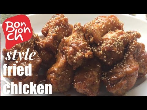 Sweet Garlic Soy Sauce Fried Chicken/ Bonchon style korean fried chicken/ with recipe