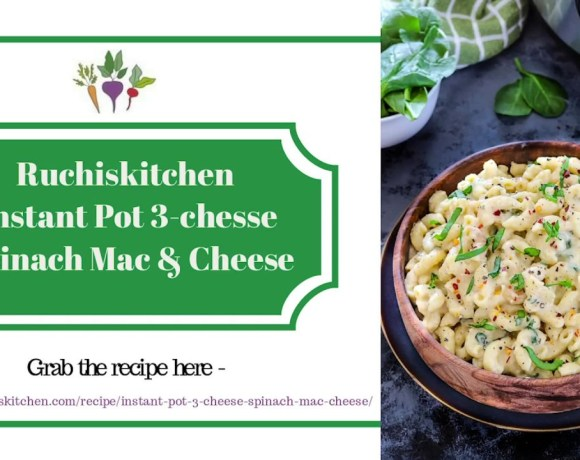 Instant pot 3 cheese spinach mac cheese