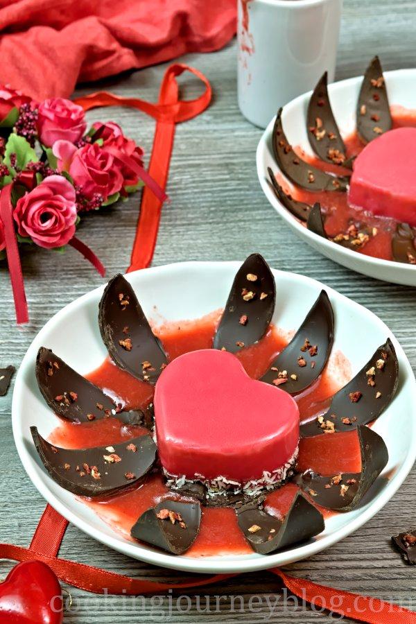 Heart-Shaped Mirror Glaze Cake recipe
