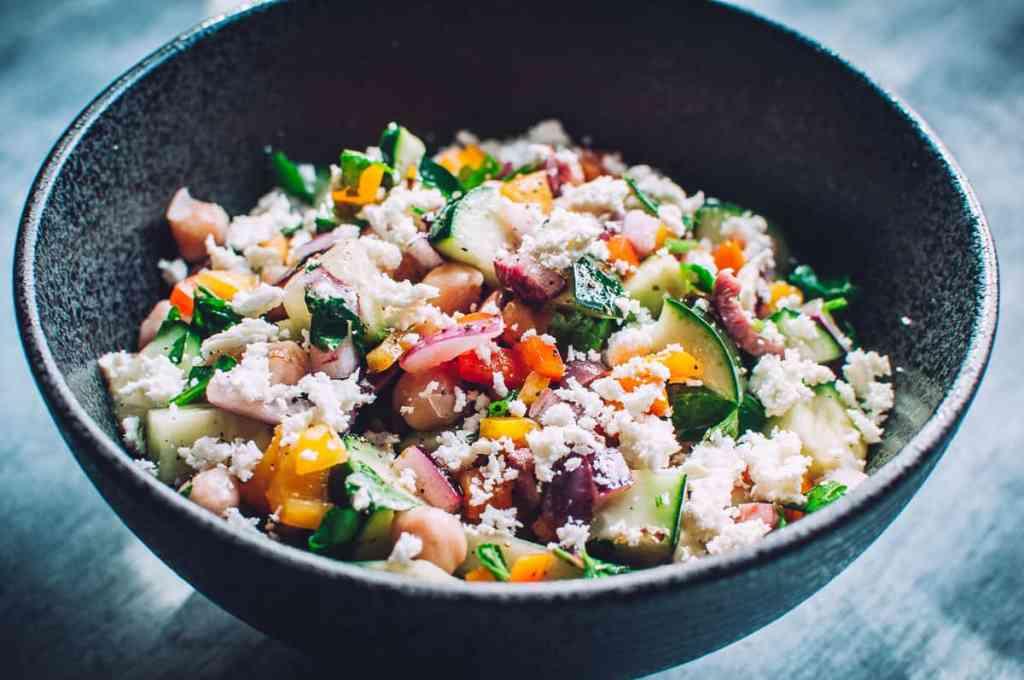 Vegan Mediterranean Cucumber Salad Recipe