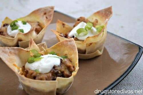 Wonton Taco Cups recipe