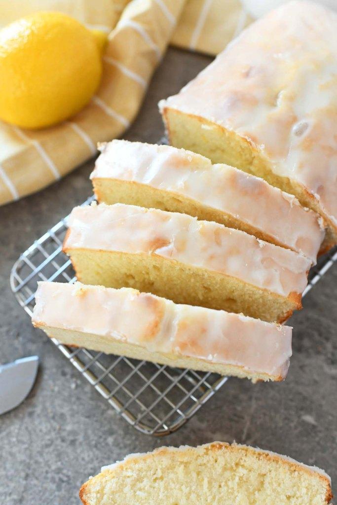 Iced Lemon Pound Cake Loaf recipe
