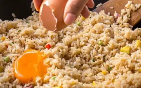 egg fried rice, egg fried rice recipe, how to make egg fried rice