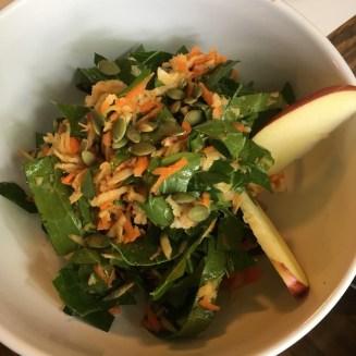 Collard green coleslaw