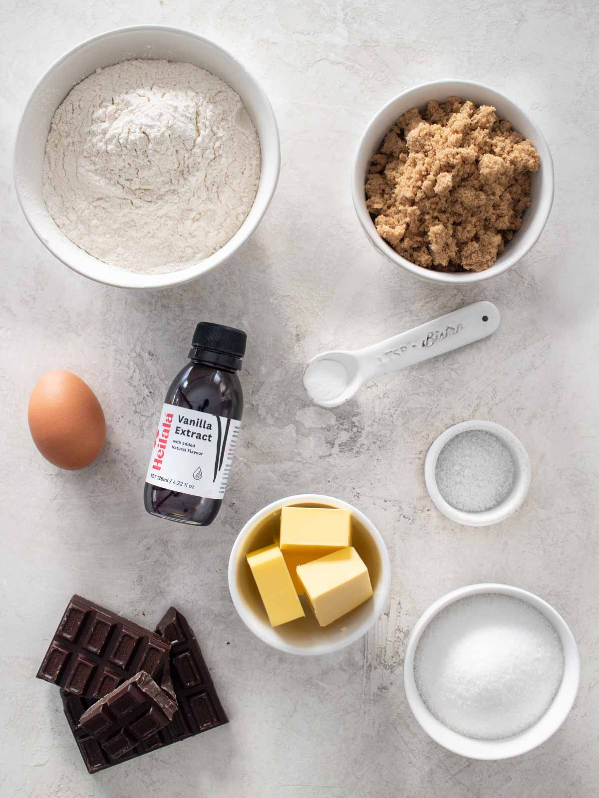 Chocolate Chip Cookies Recipe Ingredients