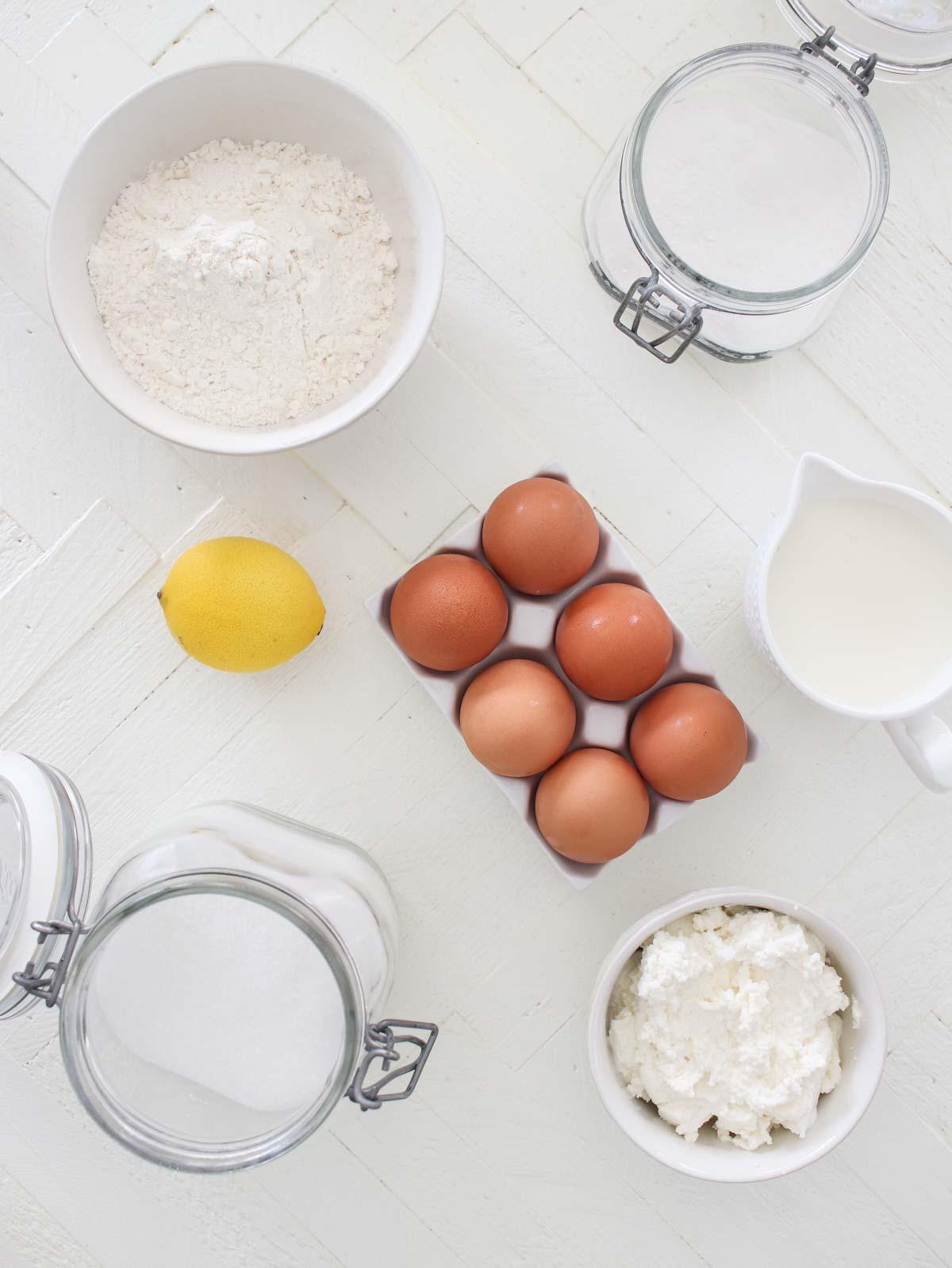 Lemon Ricotta Pancakes Ingredients