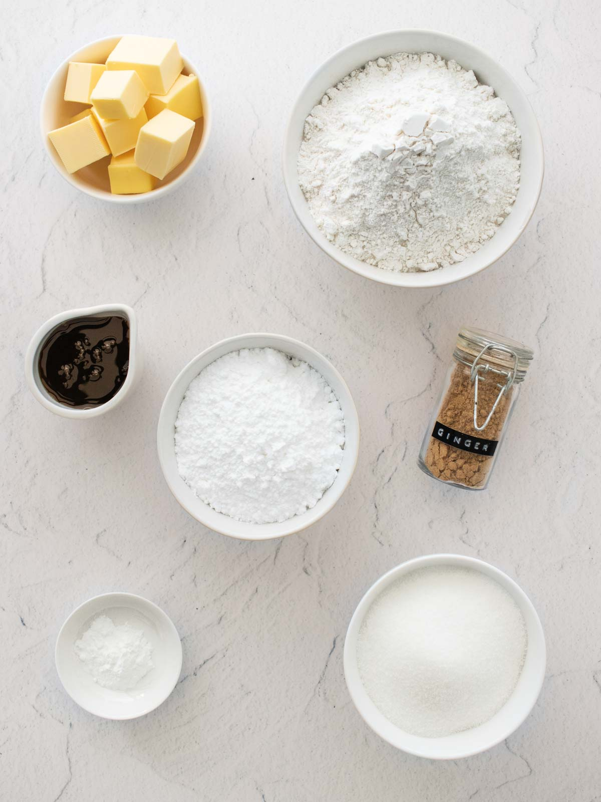 Ginger crunch ingredients