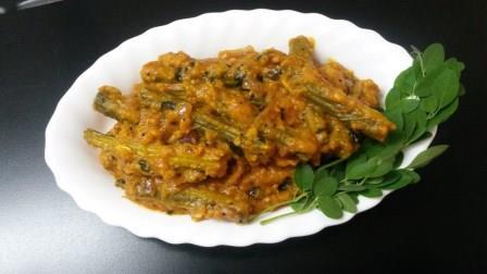 Saragva Tameta nu Shak-Drumstick with Tomato