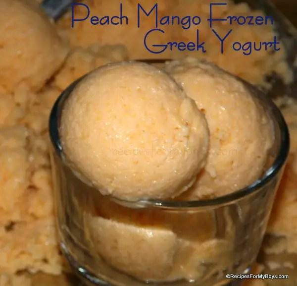 Peach Mango Frozen Greek Yogurt