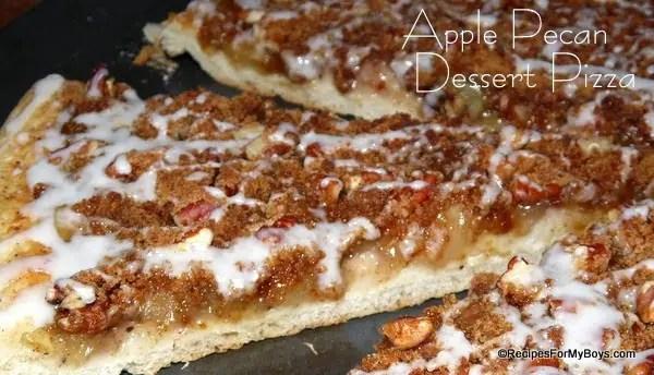 Apple Pecan Dessert Pizza