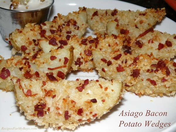 Asiago Bacon Potato Wedges