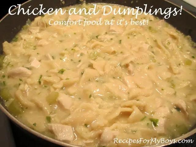 Chicken and Dumplings…Comfort Food For Hubby