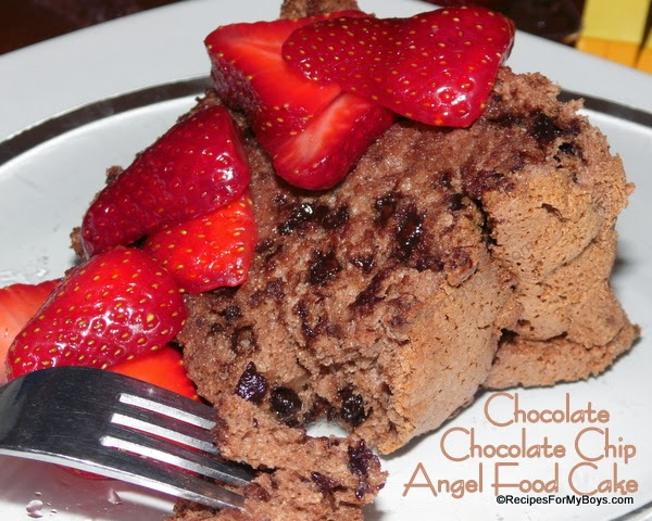 Chocolate Chocolate Chip Angel Food Cake