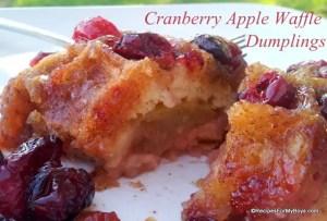 Cranberry Apple Waffle Dumplings