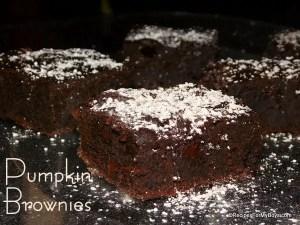 Dark Chocolate Chip Pumpkin Brownies