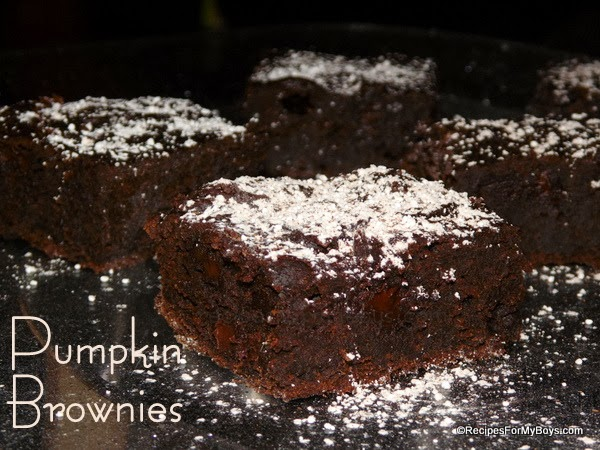 You are currently viewing Dark Chocolate Chip Pumpkin Brownies