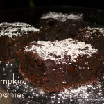 Dark Chocolate Chip Pumpkin Brownies