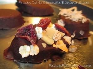 Frozen Dark Chocolate Banana Slices
