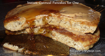Instant Oatmeal Pancakes for One