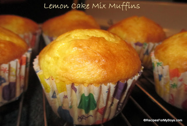 Lemon Cake Mix Muffins