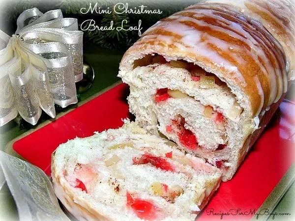 Mini Christmas Bread Loaf