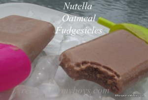 Nutella Oatmeal Fudgesicles