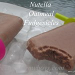 Nutella Oatmeal Fudgesicles