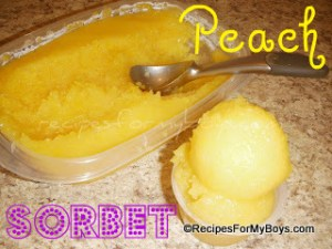 Peach Sorbet With Only One Ingredient